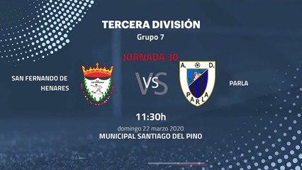 Previa partido entre San Fernando de Henares y Parla Jornada 30 Tercera División