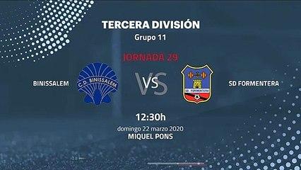 Previa partido entre Binissalem y SD Formentera Jornada 29 Tercera División