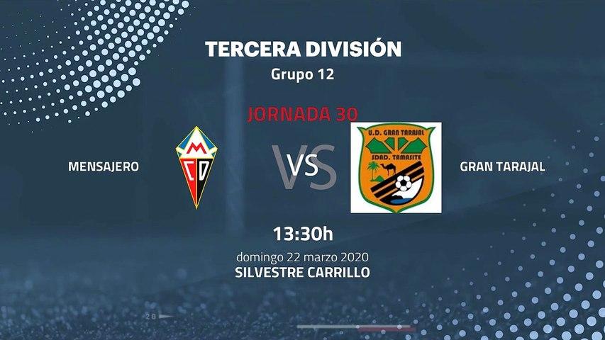 Previa partido entre Mensajero y Gran Tarajal Jornada 30 Tercera División