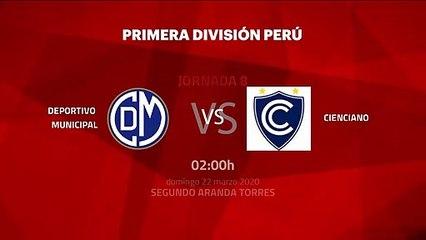 Previa partido entre Deportivo Municipal y Cienciano Jornada 8 Perú - Liga 1 Apertura