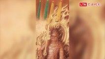 關西「不動明王」木雕神像「眨眼」了! 被用手機拍到(古慶瑀提供)