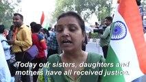 Celebrations after India hangs four over 2012 Delhi bus gang-rape