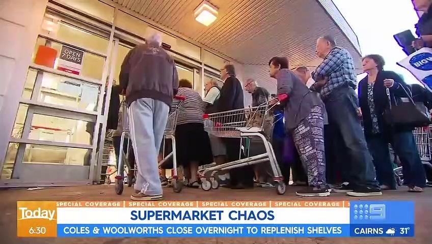 Coronavirus- Supermarket stock update, Aussie sport continues _ Nine News Austra_HD