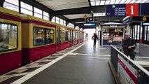 Berlin S-Bahn deserted due to coronavirus outbreak