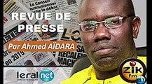 ZikFM - Revue de presse Ahmed Aidara du Vendredi 20 Mars 2020