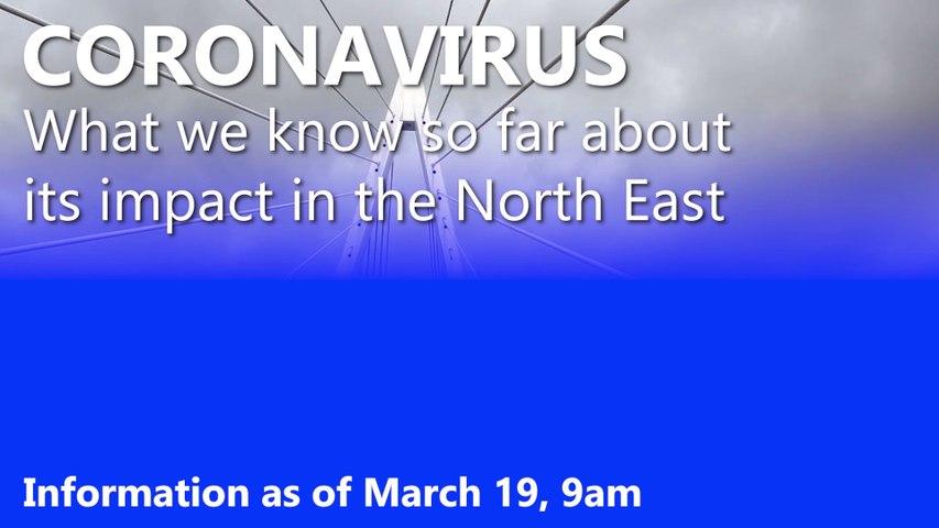 Coronavirus in the North East: March 19 data