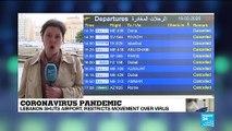 Coronavirus pandemic: Lebanon shuts airport, restricts movement over COVID-19 virus