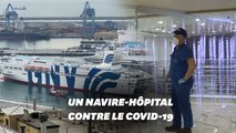 Face au coronavirus, l'Italie transforme un ferry en hôpital