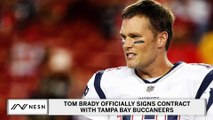 Tom Brady Officially Signs Contract With The Tampa Bay Buccaneers