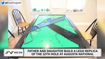 Father And Daughter Build Lego Replica Of 12th Hole At Augusta National