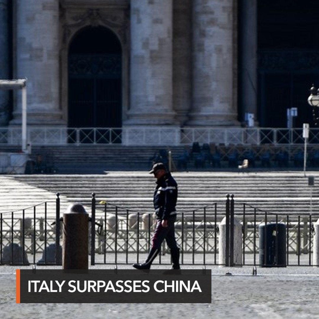 Italy overtakes China as nation with most virus deaths