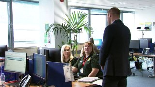 Duke and Duchess of Cambridge visit NHS 111 call centre