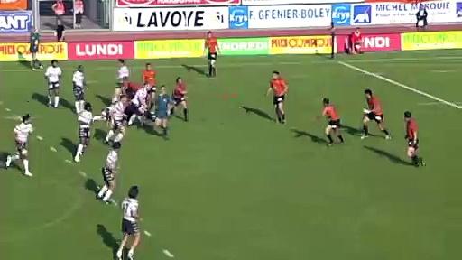 1 jour 2 essais : l'interception de Jérome Bonvoisin à Narbonne