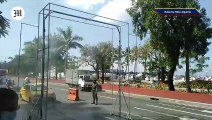 WATCH: Disinfection gate along Roxas Blvd.