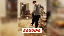 Marcos Alonso a une autre vision du Stay at home challenge - Foot - WTF