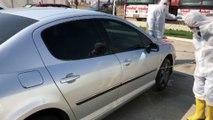 Çorlu'da bir akaryakıt istasyonu, araçları ücretsiz dezenfekte ediyor - TEKİRDAĞ