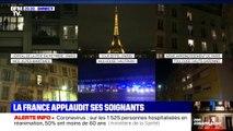 Aux fenêtres, les Français applaudissent les soignants ce samedi