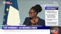 """Sibeth Ndiaye """"Le président ne porte pas de masque parce qu'il n'y en a pas besoin lorsqu'on respecte la distance de protection"""""""