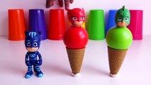 Pj Masks Balls Ice Cream Cones , Learn Colors with Pj Masks Wrong Heads