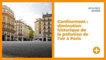 Confinement : diminution historique de la pollution de l'air à Paris