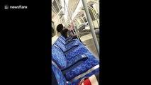 Woman caught smoking cigarette on London Underground carriage