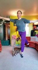Elle enseigne un cours de ballet avec son chat !