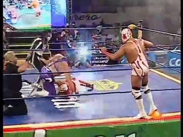 AAA Sin Limite 2009.12.18 Chilpancingo - Match #05 Crazy Boy, El Mesias & La Parka vs. Los Wagner Maniacos