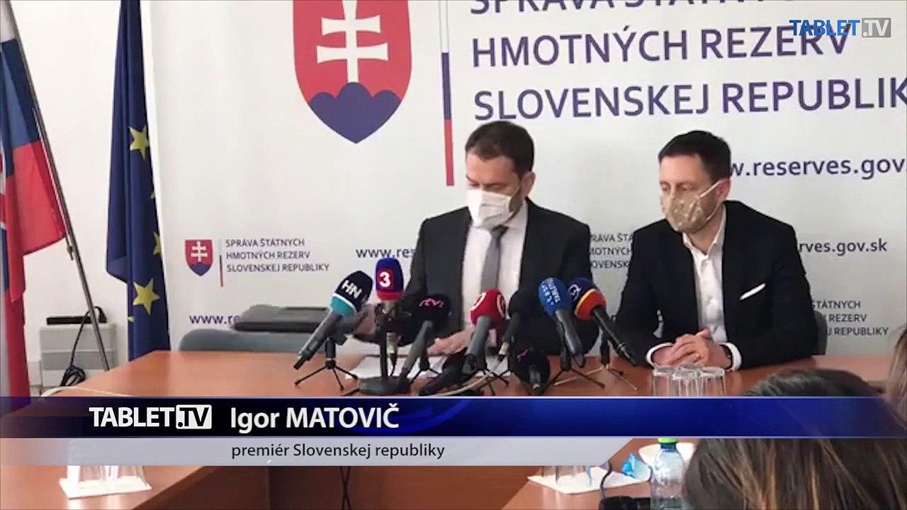 ZÁZNAM: Vyjadrenie premiéra I. Matoviča po stretnutí s vedením Štátnych hmotných rezerv