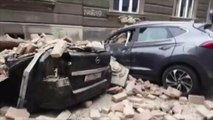 Croatie: un tremblement de terre provoque d'importants dégâts dans les rues de Zagreb