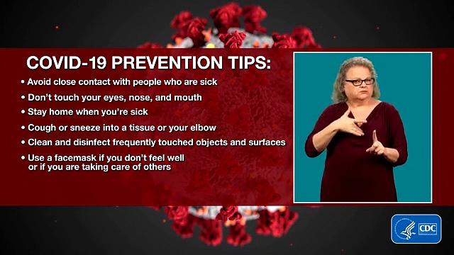 CORONA VIRUS COVID-19 Prevention Tips in ASL