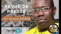 ZikFM - Revue de presse Ahmed Aidara du Lundi 23 Mars 2020