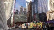 World Trade Center deserted as New York City goes into coronavirus lockdown