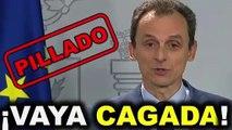 Coronavirus: el ministro Duque señala penalmente a Sánchez e Iglesias en dos minutos increíbles