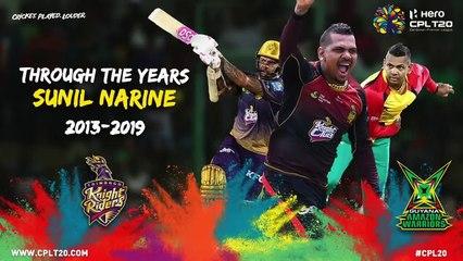 SUNIL NARINE | THROUGH THE YEARS | #CPL20  #ThroughTheYears #CricketPlayedLouder