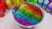 Kids Love To Play And Mixing Slime Learn Colors Clay Glitter Mix Surprise Eggs Toys For Kids