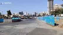Mumbai streets deserted during coronavirus curfew