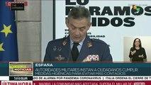 Covid-19:autoridad militar pide a españoles seguir medidas preventivas