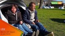 SDF liégeois au parc Astrid (Marie et Christophe)