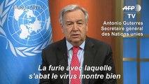 """Covid-19: le chef de l'ONU réclame """"un cessez-le-feu immédiat et mondial"""""""