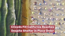 Crowds Fill California Beaches Despite Shelter In Place Order