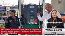 La diputada Verónica Juárez del PRD dan su opinión sobre la baja en los precios de la gasolina