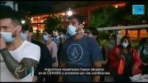 """""""Hacinados, sin agua"""": caos en el Cenard donde quieren poner en cuarentena a pasajeros repatriados"""