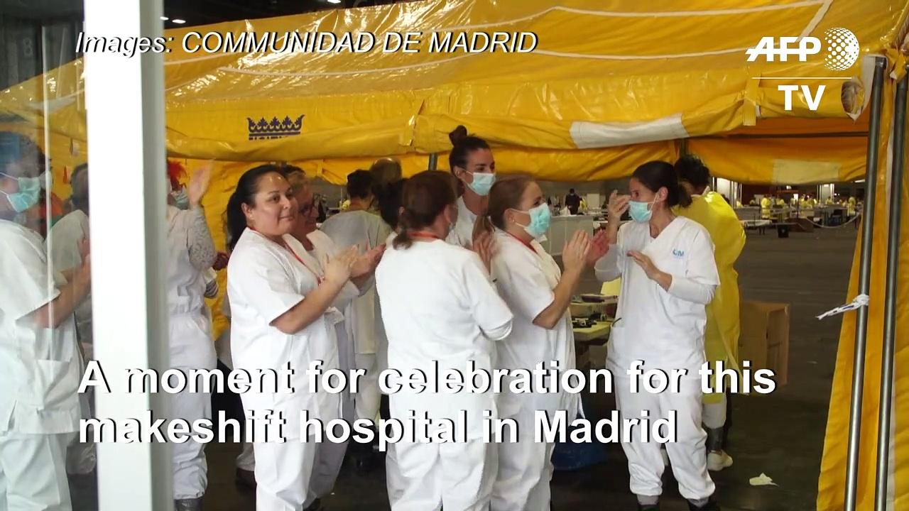 Coronavirus: First patient recovers from new coronavirus leaves makeshift Madrid facility
