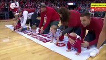 Funny Baby Race || Funny Baby Crawling Race || Babies Compete @ 2019 Baby Crawl Race | New Orleans Pelicans || Wisconsin Basketball Halftime Baby Race
