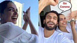 Deepika Padukone And Ranveer Singh Support Janta Curfew By Clapping In Balcony