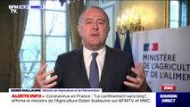 """Le ministre de l'Agriculture Didier Guillaume affirme que """"le confinement sera long"""""""