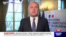 """Le ministre de l'agriculture, Didier Guillaume, appelle les citoyens à """"acheter français"""""""