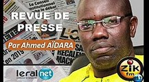 ZikFM - Revue de presse Ahmed Aidara du Mardi 24 Mars 2020