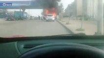 مواطن لبناني يقدم على إحراق سيارته احتجاجا على إجراءات كورونا