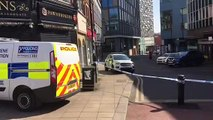 Police incident on Charles Street in Sheffield.